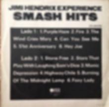 jimi hendrix rotily vinyl / smash hits