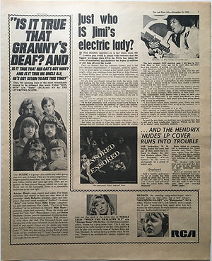jimi hendrix newspaper 1968/disc music echo november 16 1968