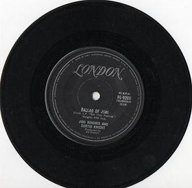 jimi hendrix vinyls singles/ballad of jimi /australia