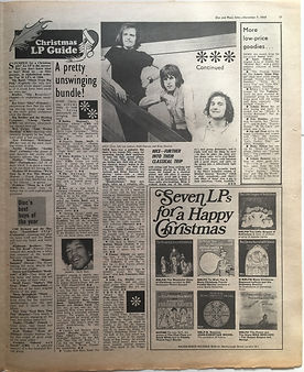 jimi hendrix newspaper 1968/disc music echo december 7 1968/