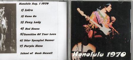 jimi hendrix bootlegs cd / honolulu 1970