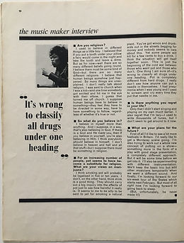 jimi hendrix magazine/music maker february 1968 interview part 7