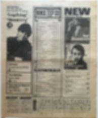 jimi hendrix newspaper/new musical express top 15 lps