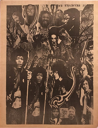 jimi hendrix rotily newspapers collector/world countdown 8/67