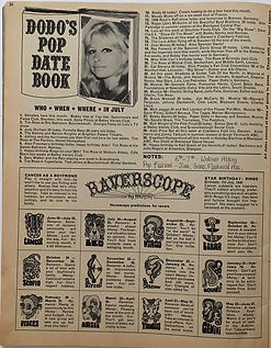 jimi jhendrix magazine/rave july 1968/AD:woburn pop  festival