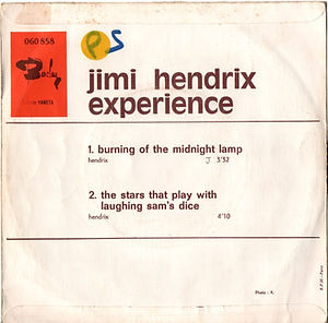 jimi hendrix rotily singles/burning of the midnight lamp