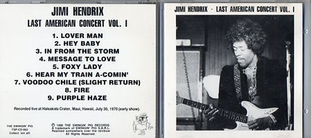 jimi hendrix bootlegs cd /jimi hendrix  last american concert  vol 1