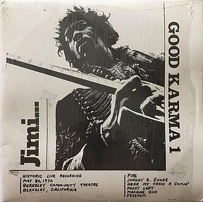 jimi hendrix bootlegs vinyls 1970 / good karma /berkeley 2022