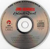jimi hendrix cd bootlegs/black devil gdr cd 9104