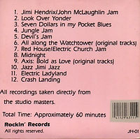 jimi hendrix collector cd bootlegs/the master's masters