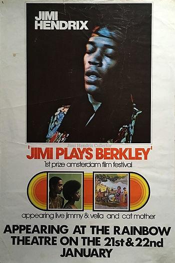 jimi hendrix poster collector / jimi plays berkeley
