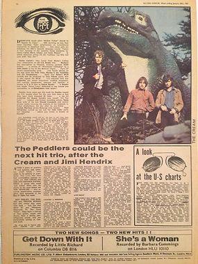 jimi hendrix newspapers collector 1967 /  record mirror 1967