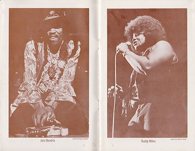 jimi hendrix memorabilia 1969/program band of gypsys dec.31- 1 january 70