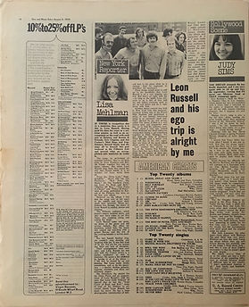 jimi hendrix newspaper 1970 /disc music echo  august 8, 1970