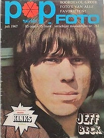 jimi hendrix magazine/pop foto july 1967