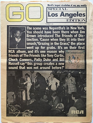 jimi hendrix newspaper 1969/ go june 6 1969