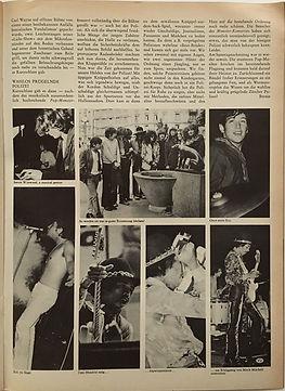 jimi hendrix magazine/ pop july 1968 / pop monsterkonzert zurich part 4