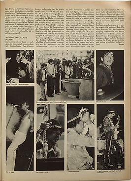 jimi hendrix magazine/ pop july 1968 / pop monsterkonzert zurich part 4