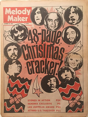 jimi hendrix newspaper 1969/melody maker / december 20, 1969