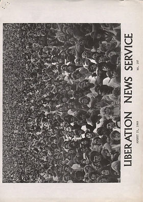 jimi hendrixnewspaper 69/liberation news service august 21 1969
