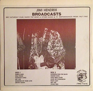 hendrix vinyls bootlegs lp collector/broadcasts glc