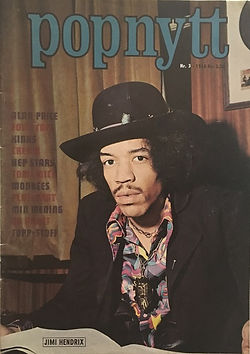 jimi hendrix magazines 1968 norway / popnytt march.  1968