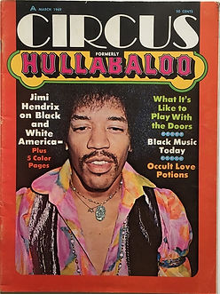 jimi hendrix magazines 1969 /circus/hullabaloo  march 1969