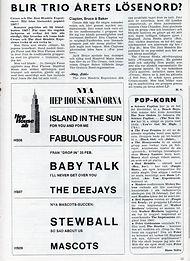 jimi hendrix magazines 1967 /  show business april 67