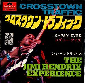 "jimi hendrix collector vinyls singles45t/7""/crosstown traffic/gypsy eyes japan polydor 06/1969"