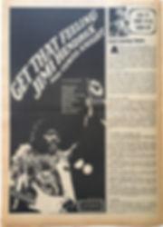 jimi hendrix newspaper/AD:get that feeling jimi hendrix & curtis knight