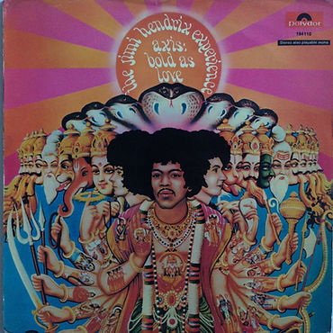 jimi hendrix collector vinyls lp/ axis bold as love promo germany 1967