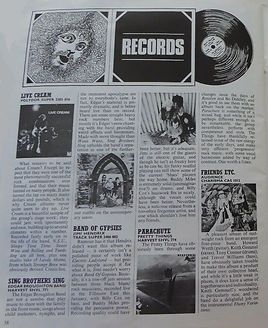 jimi hendrix magazines 1970 / beat instrumental  august 1970 review band of gypsys