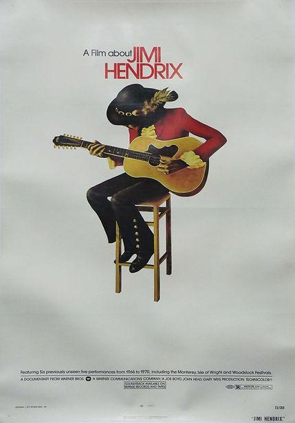 jimi hendrix memorabilia / jimi hendrix film 1973