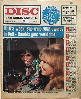 jimi hendrix collector newspaper/disc music echo february 17 1968/poll results