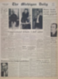 jimihendrix newspapers 1968 /the michigan daily october 29, 1968