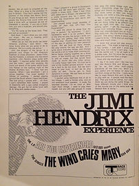 jimi hendrix magazine /music maker 6/67