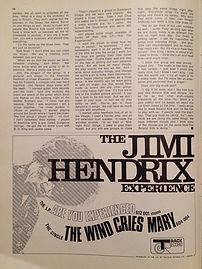 jimi hendrix magazine /music maker 6/67