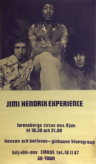memorabilia 1969 / poster : january 8 1969 gothenburg sueden