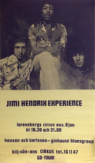 memorabilia 1969 / poster : january 8 1969 gothenburg sueden