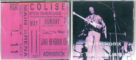 jimi hendrix bootlegs cd 1969/jimi hendrix at the coliseum major tom cd