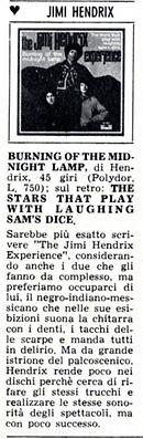 jimi hendrix magazine january 1968 / giovani january 4, 1968