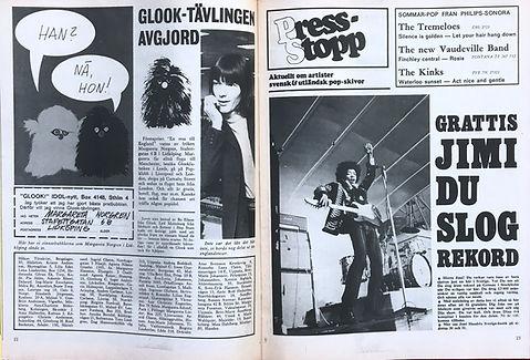 jimi hendrix magazines 1967/ idol  n°10    1967