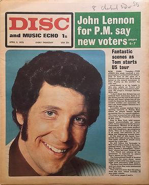 jimi hendrix newspaper 1970 /disc & music echo  april 11, 1970