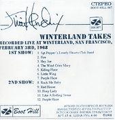 jimi hendrix cd bootlegs/winterland takes 3/2/68