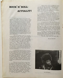 jimi hendrix magazine collector/musique actualite 6/7/68
