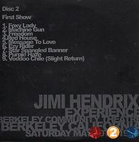 jimi hendrix bootlegs cd / riots in berkeley 2nd show