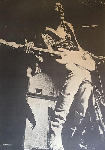 jimi hendrix memorabilia poster / ron raffaelli