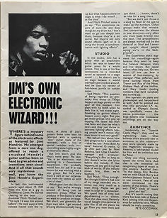 jimi hendrix magazine/beat instrumental january 1968 / jimi's own electronic wizard!!!