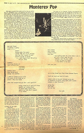 jimi hendrix newspapers 1969/kadeidoscope chicago july 4-17 1969