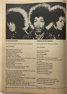 jimi hendrix magazine 1969/song hit april 1969/crosstown traffic